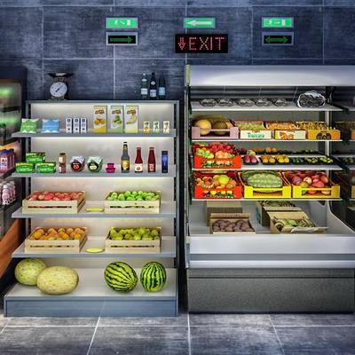 冰柜, 冻柜, 饮料柜, 水果