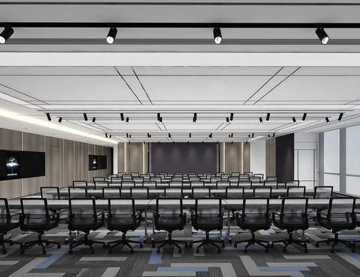 會議廳, 會議室, 射燈組合, 單人椅, 現代