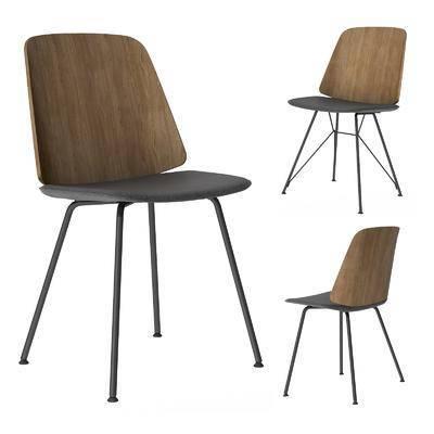 北欧简约, 单椅, 休闲椅, 餐椅