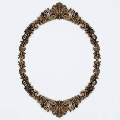 装饰镜, 雕花镜, 镜子, 现代