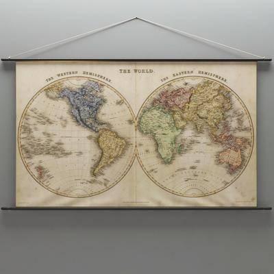 地图挂件, 墙饰