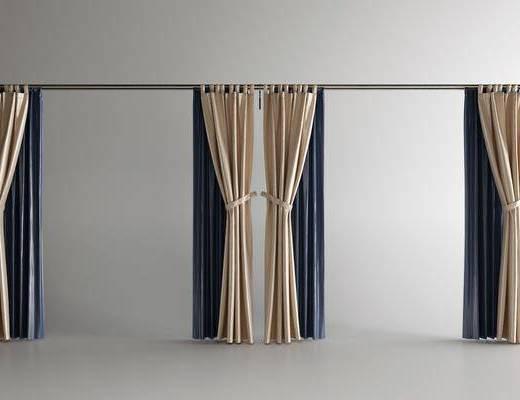 罗马杆, 窗帘, 布艺窗帘