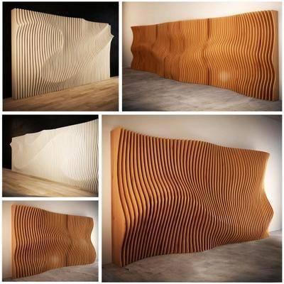背景墙, 木墙, 实木, 现代