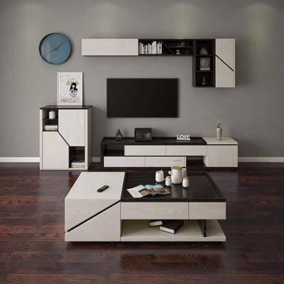 电视柜, 茶几, 现代, 北欧