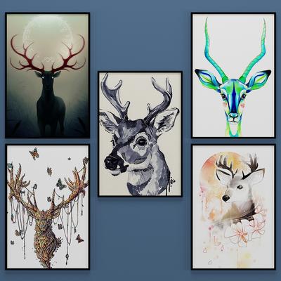 北欧动物装饰画, 挂画, 壁画