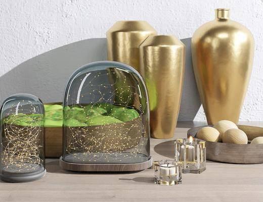 装饰品, 摆件组合, 花瓶