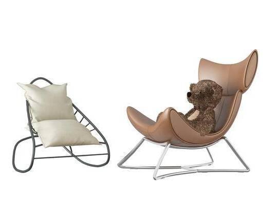 单椅, 休闲椅, 单人沙发, 现代单椅, 现代