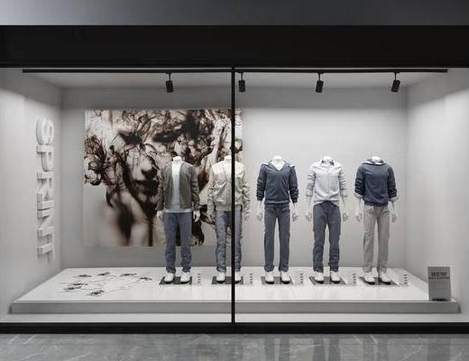 橱窗, 服饰模特, 现代