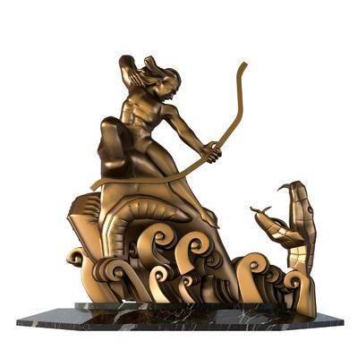 雕塑, 雕刻, 装饰品, 摆件组合