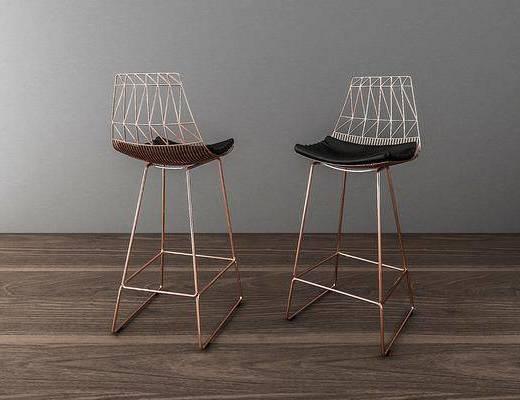 吧椅, 北欧吧椅, 金属