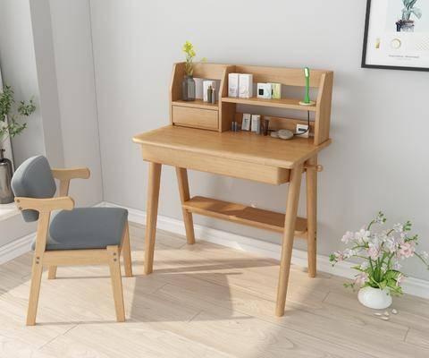 梳妆台, 摆件组合, 桌椅组合, 装饰画