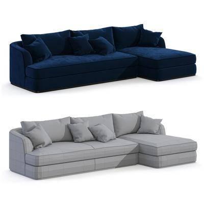 多人沙发, 布艺沙发, 沙发, 现代, 现代沙发