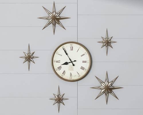 现代, 时钟, 墙饰