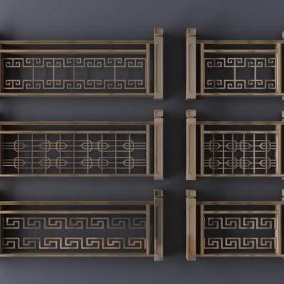 新中式, 护栏, 栏杆, 围栏