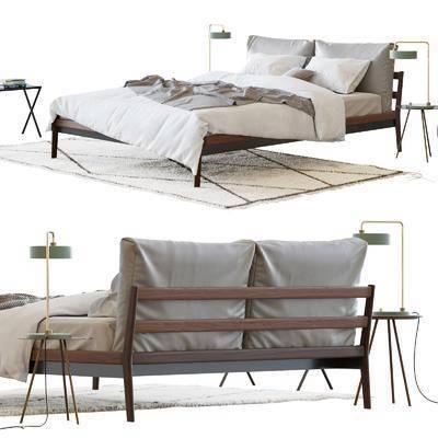 雙人床組合, 床具組合, 北歐