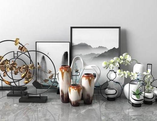 现代花瓶, 瓷器, 摆件