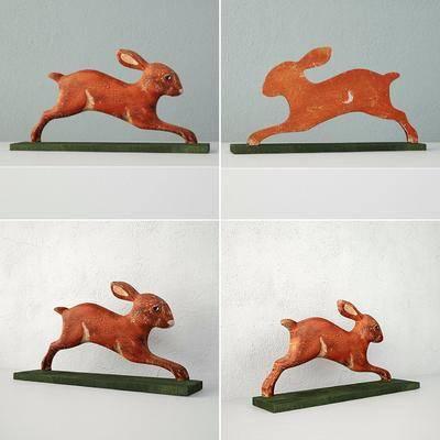 塑料, 摆件, 兔子, 现代