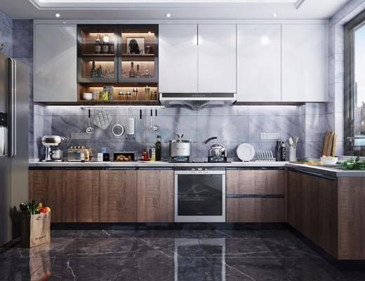 厨房橱柜, 厨房电器, 厨房用品, 厨具组合, 消毒柜, 烟机灶具, 现代