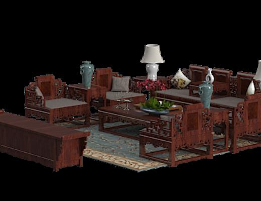 桌椅组合, 茶几, 边几, 台灯