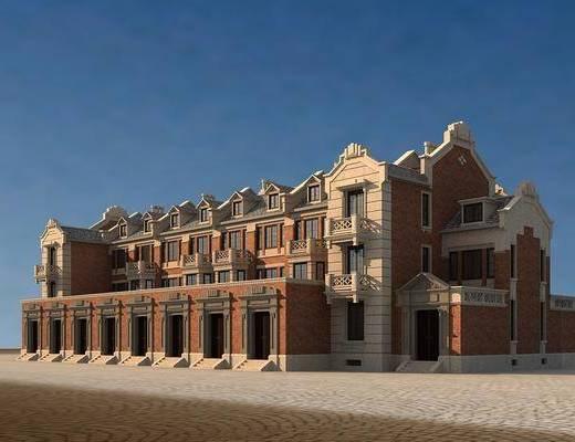 建筑别墅, 民国风格, 后现代