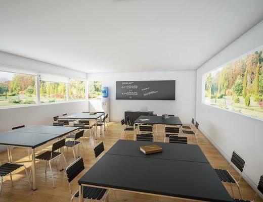 现代课室, 课桌椅, 黑板