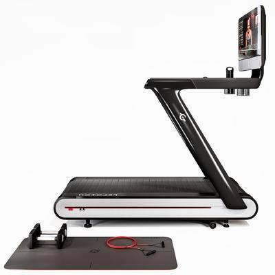 跑步机, 弹力绳, 哑铃, 瑜伽垫, 运动器材, 现代