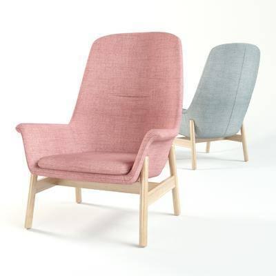 單人沙發, 椅子, 單椅, 北歐椅子, 現代椅子