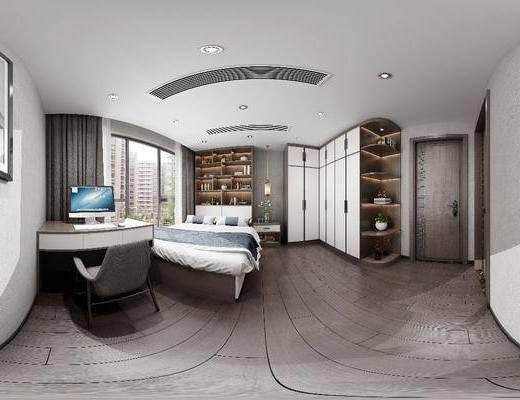 新中式臥室, 臥室, 榻榻米