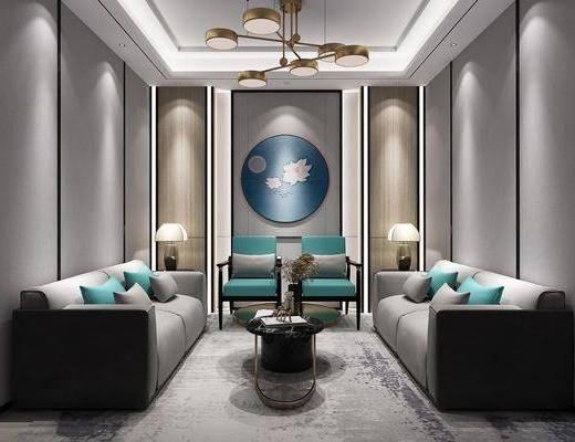 沙发组合, 多人沙发, 新中式