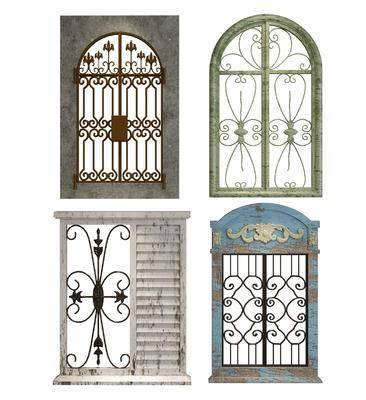 田園平開窗, 平開窗, 鐵藝窗, 窗