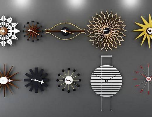 现代钟表, 挂钟, 墙饰