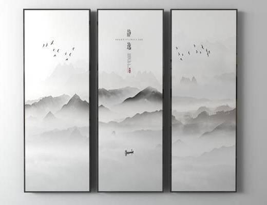 新中式装饰画, 装饰画, 挂画