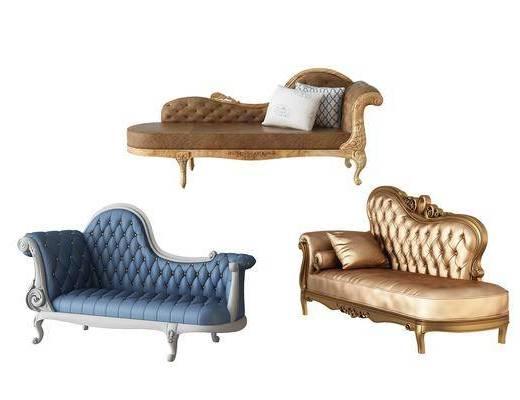 多人沙发, 贵妃椅, 欧式