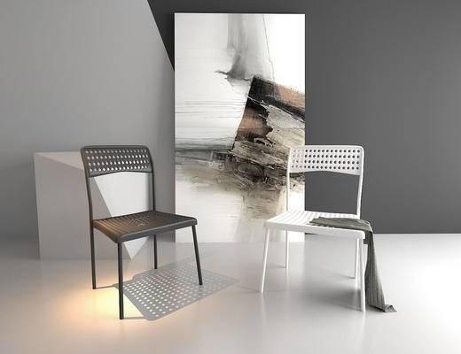 办公椅, 单椅, 休闲椅, 装饰画