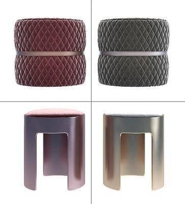 现代圆形凳子