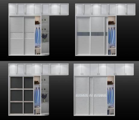 现代衣柜组合, 衣橱, 衣服