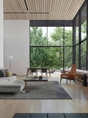 现代客厅, 沙发茶几组合, 餐桌椅组合, 客厅, 沙发组合, 现代沙发