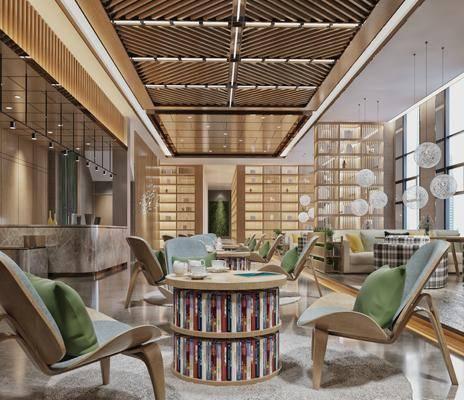 桌椅组合, 书柜, 书籍