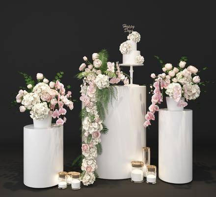 花卉, 蜡烛, 现代
