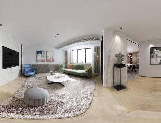 现代客厅, 北欧客厅, 客厅