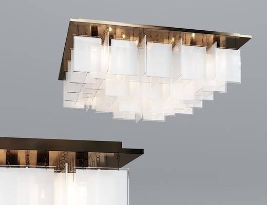 现代, 玻璃, 吸顶灯