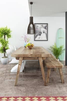 北歐, 餐桌, 凳子, 長凳子