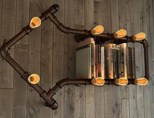loft工业风装饰壁灯, 工业风, 工业风壁灯, 书籍