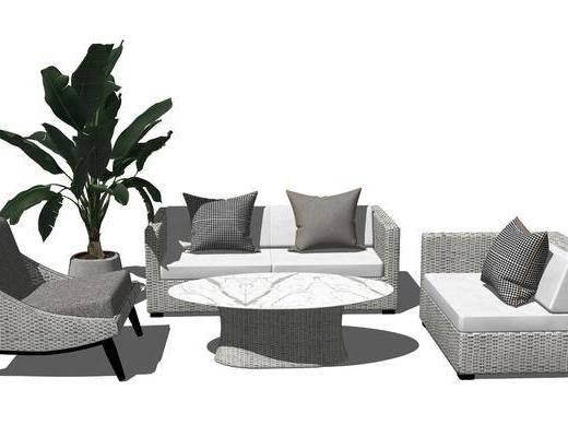 沙发组合, 藤椅, 户外椅, 休闲椅