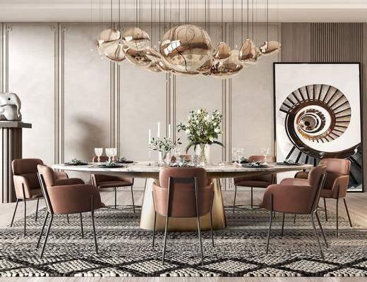 餐桌椅组合, 现代餐桌椅