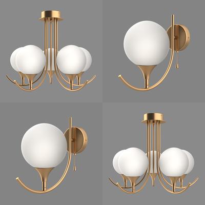 金属吊灯, 壁灯, 现代