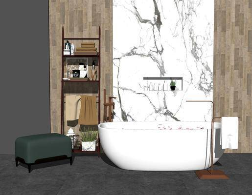 卫浴组合, 浴缸, 单椅