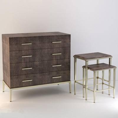 北欧简约, 实木边柜, 装饰桌, corona
