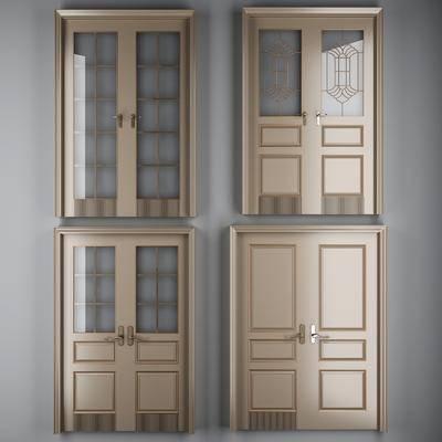 双开门, 烤漆门, 现代双开门