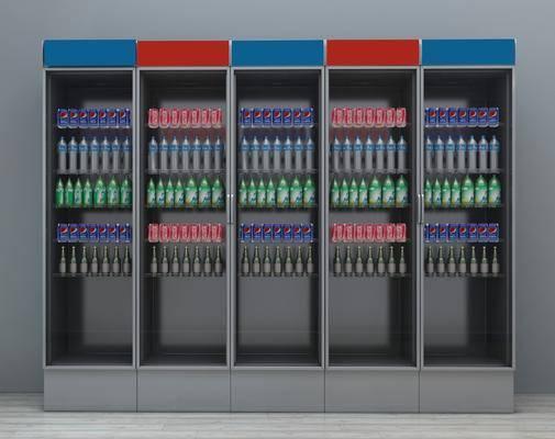 商场冰箱, 冰柜, 饮料柜, 酒水饮料冰柜, 现代